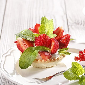 Tartlet Filled with Vanilla Creme and Fresh Strawberries